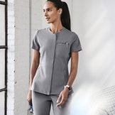 Women in Gray Scrub Top