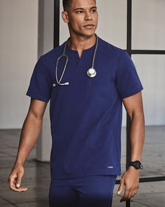 Man in Navy Scrub Top