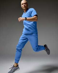 Man in Ceil Blue Top and Pant