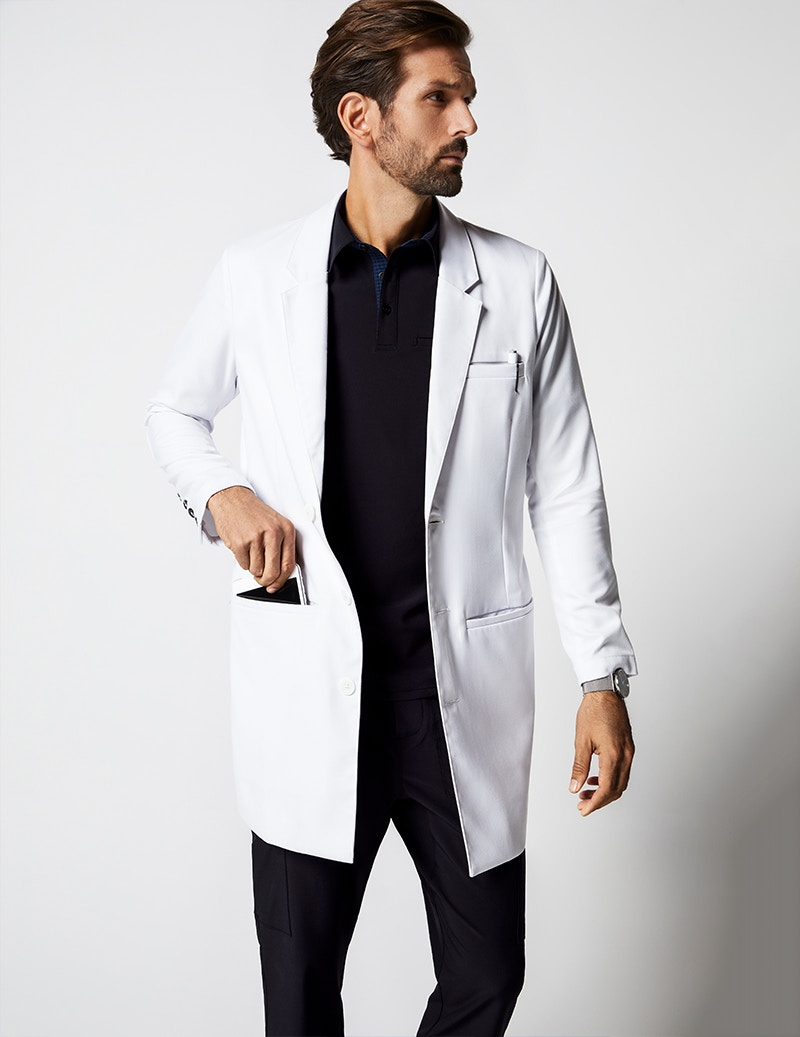 d18294f4d77 Charles Lab Coat in White - Lab Coats by Jaanuu