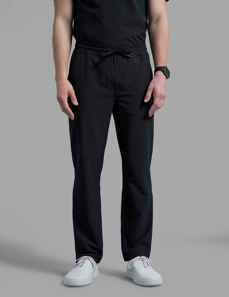 d5b2b734f42 Slim Drawstring Pant in Black - Medical Scrubs by Jaanuu