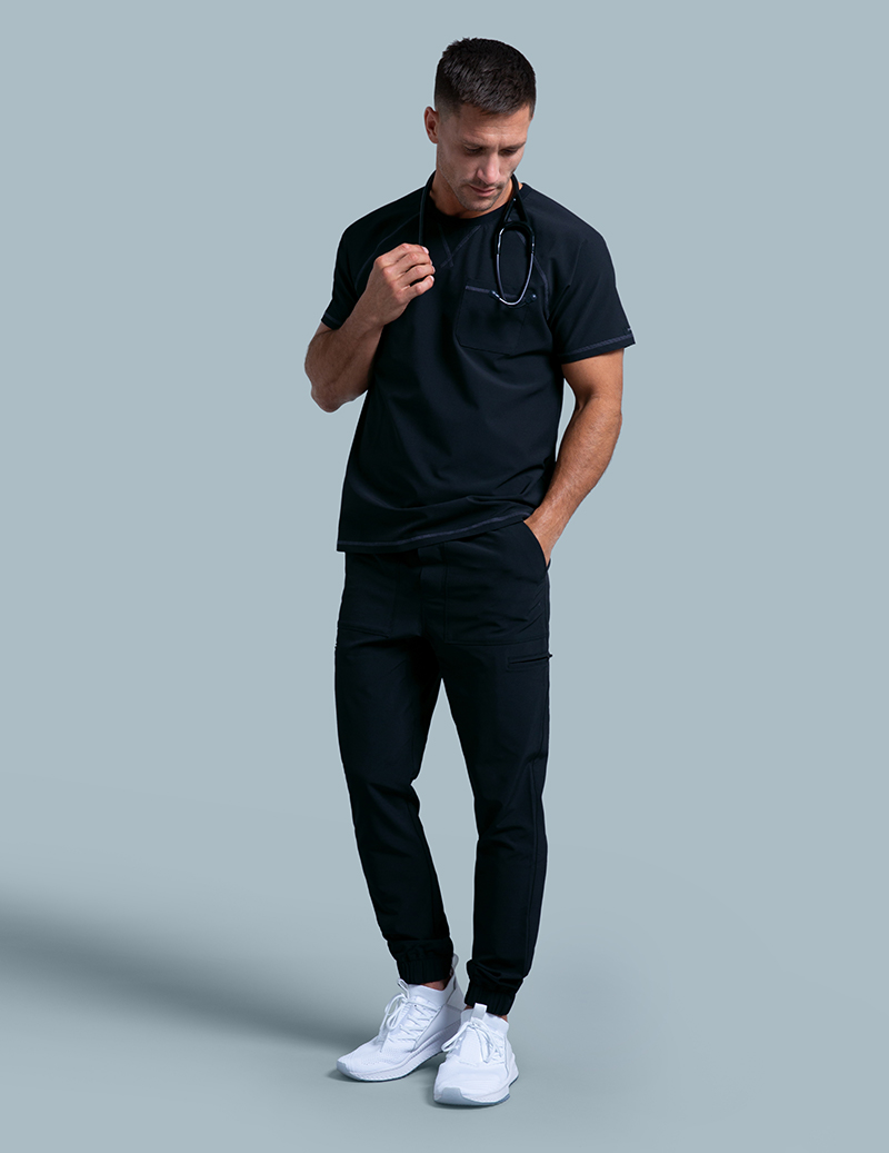 9303db4285a Jogger Pant in Black - Medical Scrubs by Jaanuu
