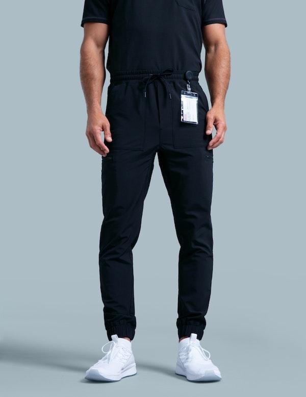 Jogger Pant In Black Medical Scrubs By Jaanuu