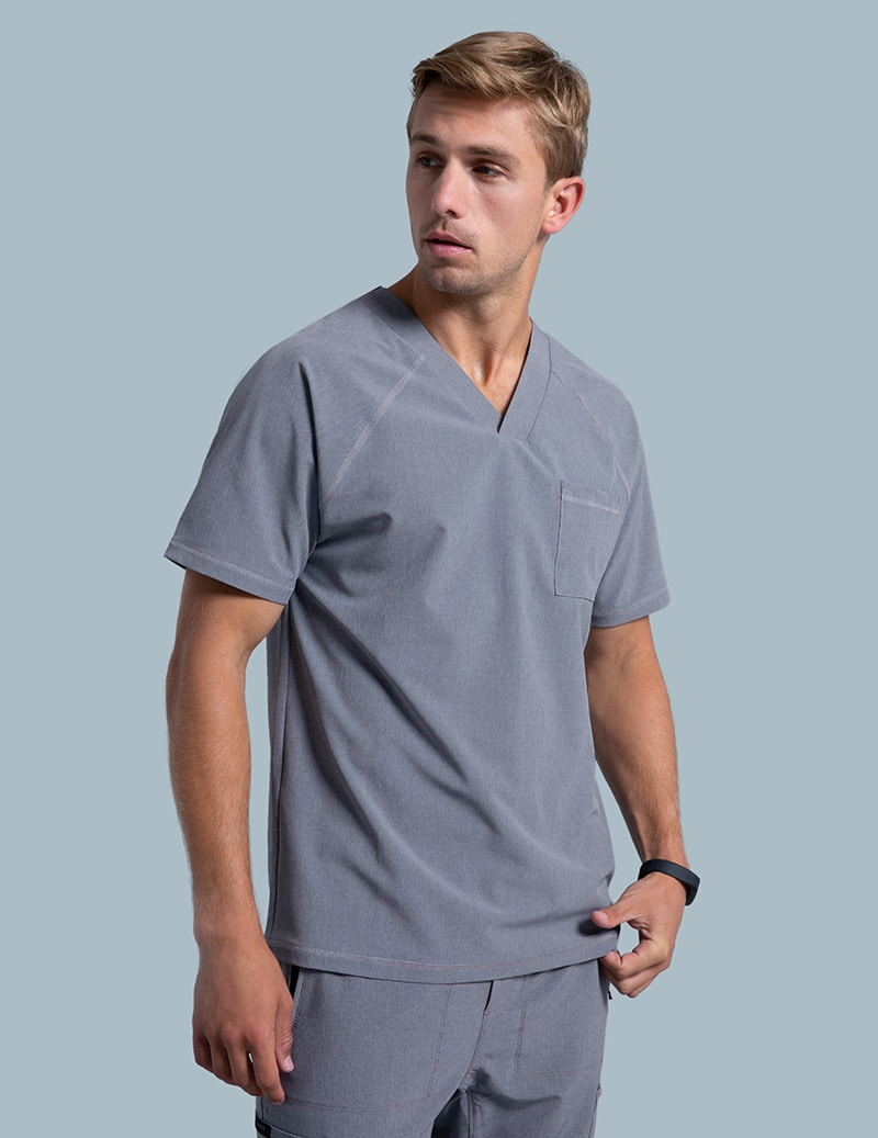 76c1f835513 V-Neck Raglan Top in Graphite - Medical Scrubs by Jaanuu