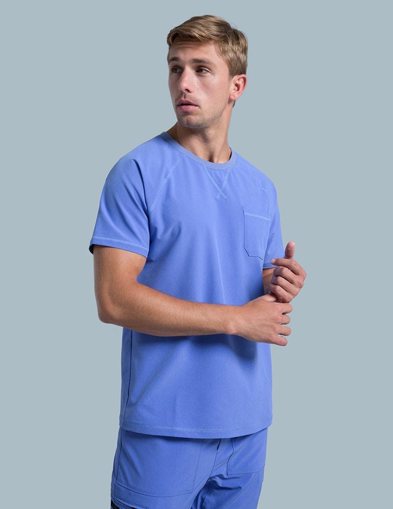 de773d0594d Crew Neck Raglan Top in Ceil Blue - Medical Scrubs by Jaanuu