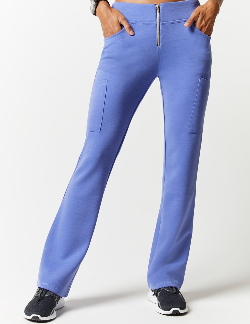 c9e0957e70a Zip Front Pant in Ceil Blue - Medical Scrubs by Jaanuu