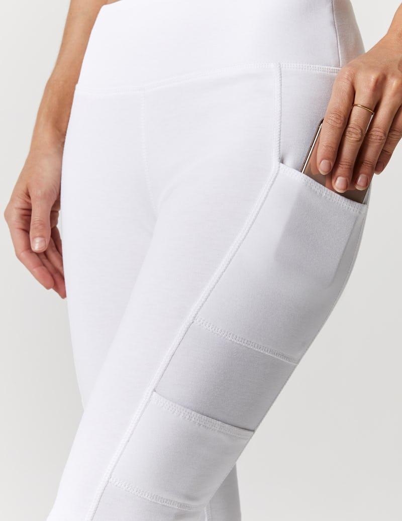 1e1aa95b6d Yoga Pant in White - Medical Scrubs by Jaanuu