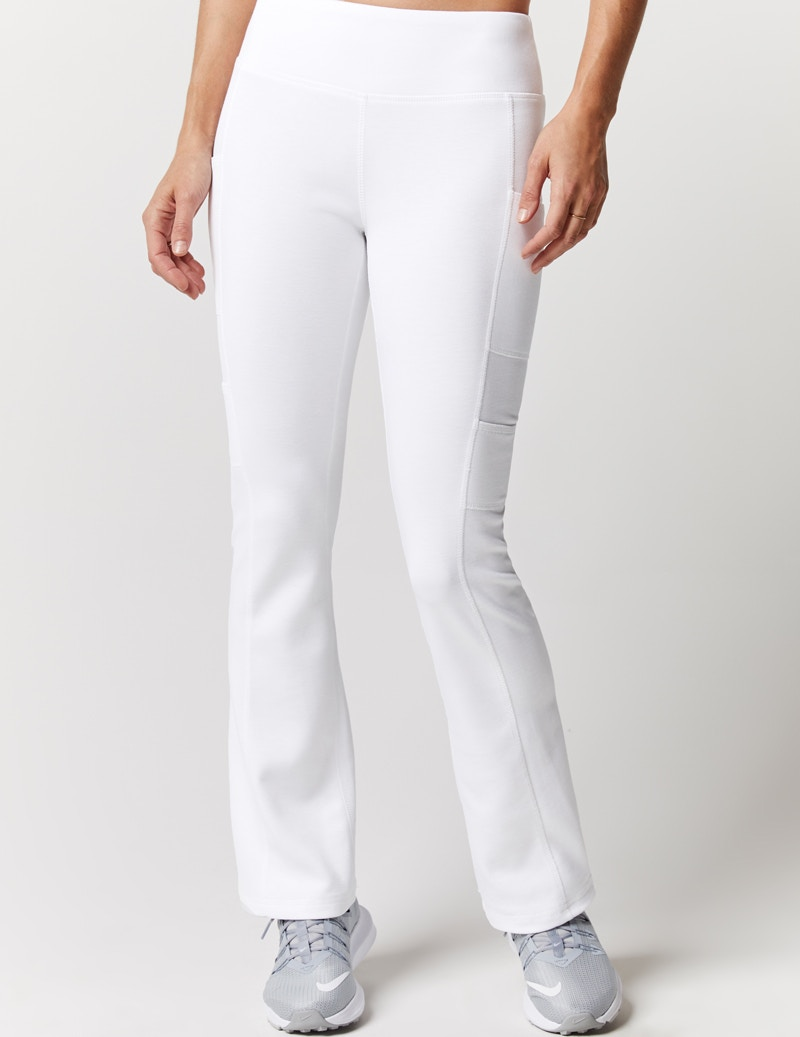 ddb149e3bce Yoga Pant in White - Medical Scrubs by Jaanuu