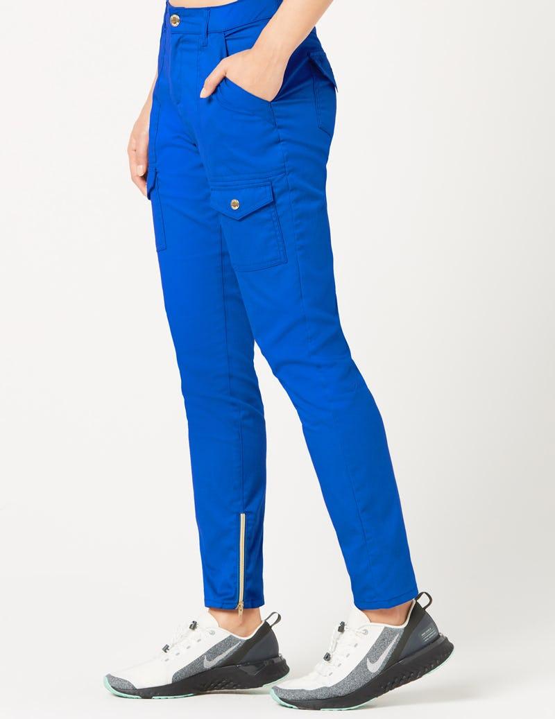 d41efebb111 Skinny Cargo Pant in Royal Blue - Medical Scrubs by Jaanuu