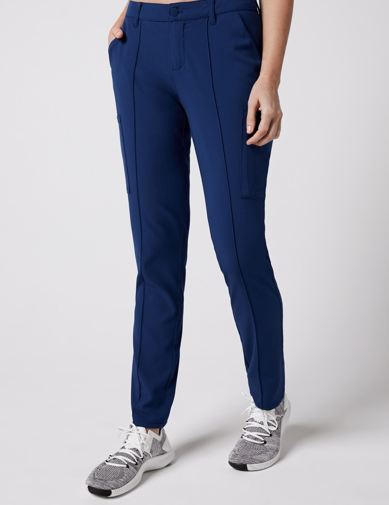 a0fc985f0b9 Slim Cargo Trouser Pant in Estate Navy Blue - Medical Scrubs by Jaanuu