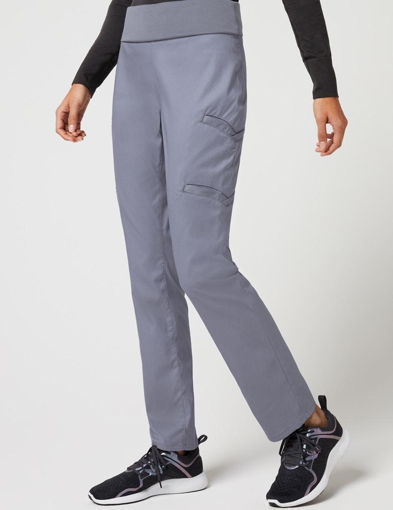 3a01a54b807 Yoga Waist Pant in Graphite - Medical Scrubs by Jaanuu