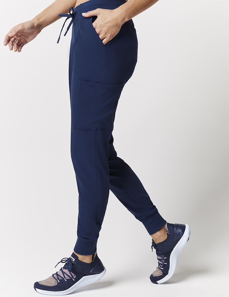 23adb1604 Pleated Jogger Pant in Estate Navy Blue - Medical Scrubs by Jaanuu