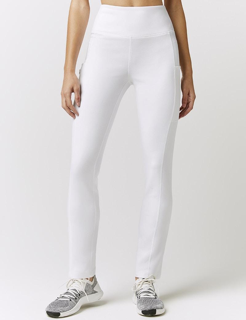 f4f439092d Skinny High Waist Yoga Pant in White - Medical Scrubs by Jaanuu