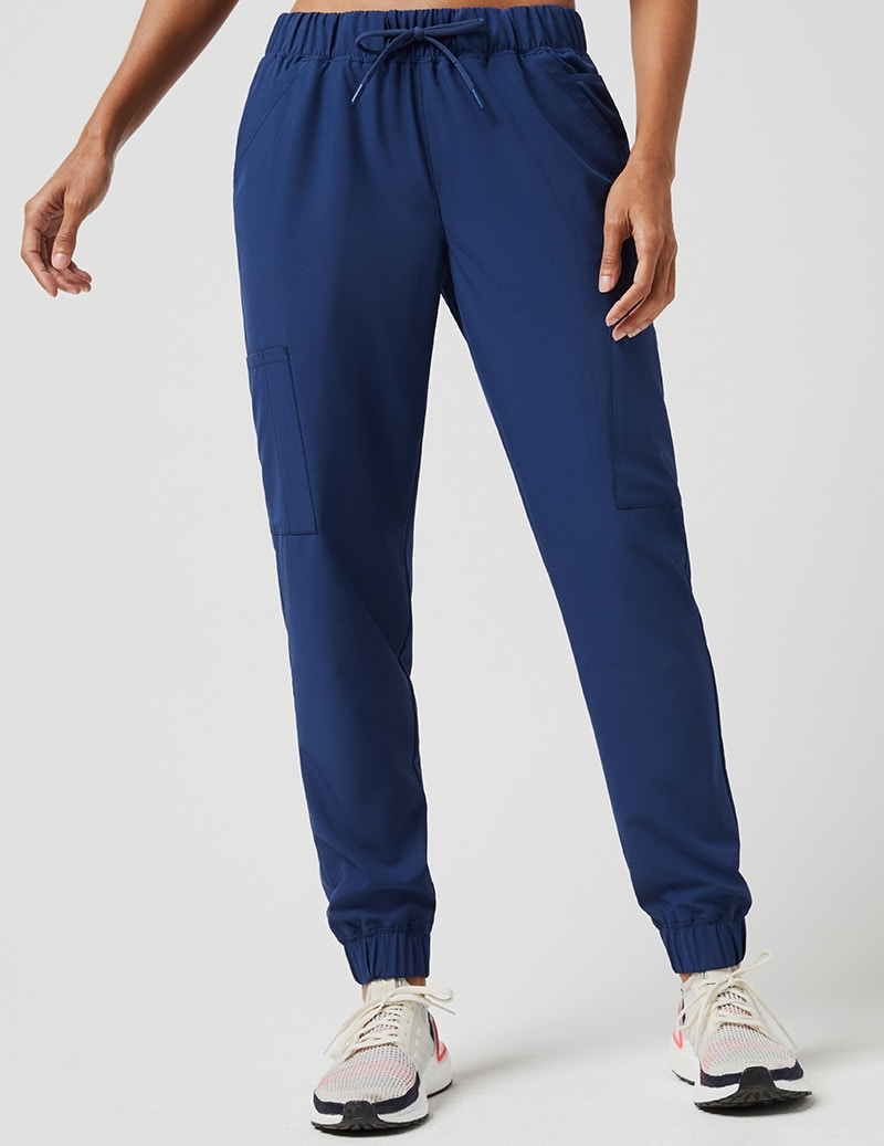 e4d2ba926 Mesh Pocket Jogger Pant in Estate Navy Blue - Medical Scrubs by Jaanuu