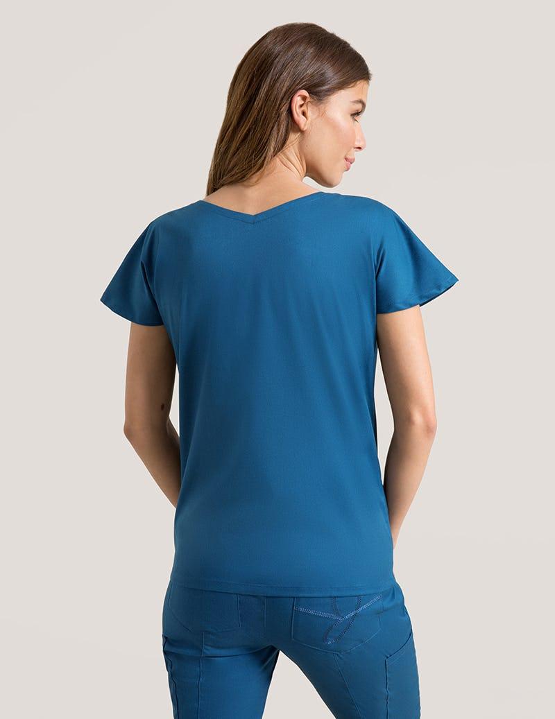 fae87b3a4e4ec4 Dolman Top in Caribbean Blue - Medical Scrubs by Jaanuu