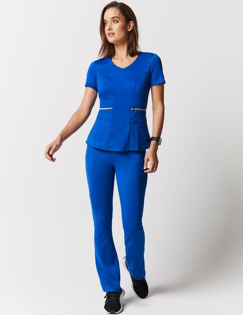 c6931066fa5 Zipper Waist Top in Royal Blue - Medical Scrubs by Jaanuu