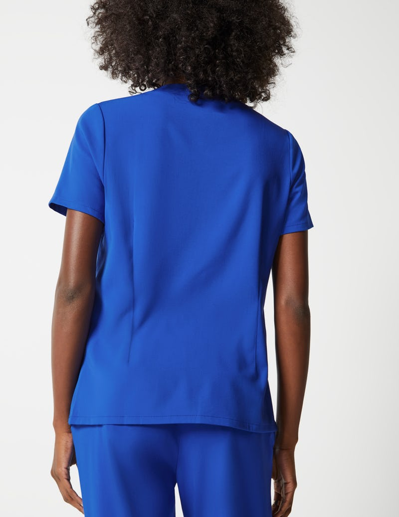 7e19441291747 Notched Collar Top in Royal Blue - Medical Scrubs by Jaanuu