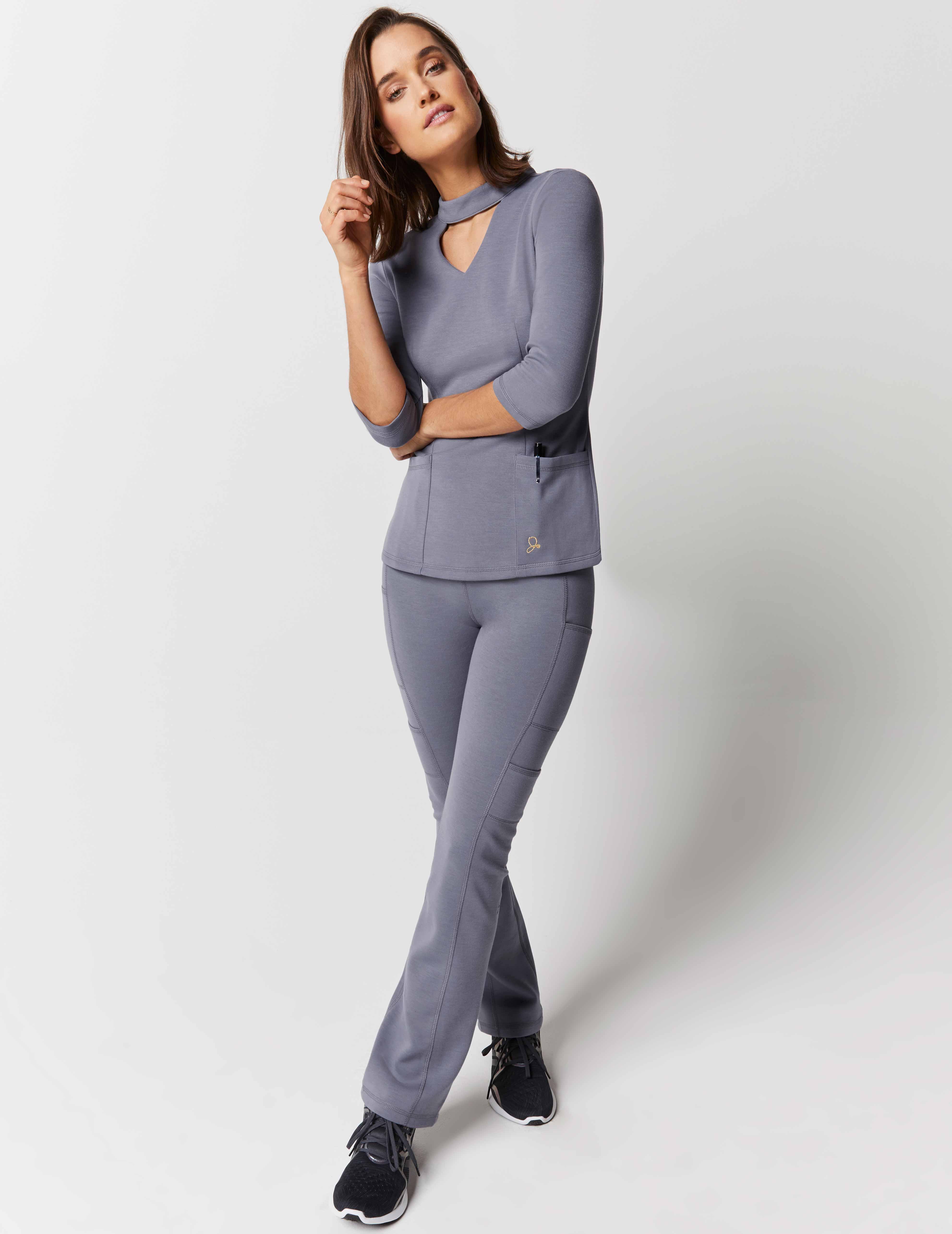 ed780aeb4f Mock Neck Top + Yoga Pant - Medical Scrubs by Jaanuu