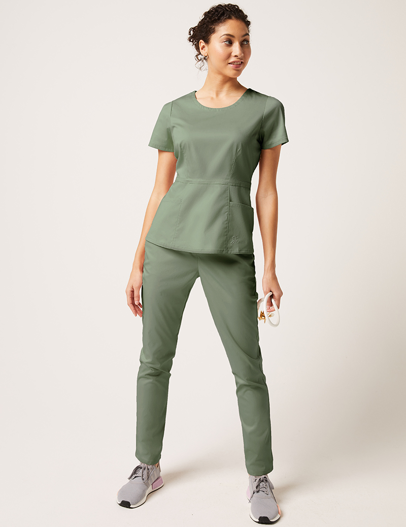 565ba124053 Peplum Top + Skinny Pant - Medical Scrubs by Jaanuu