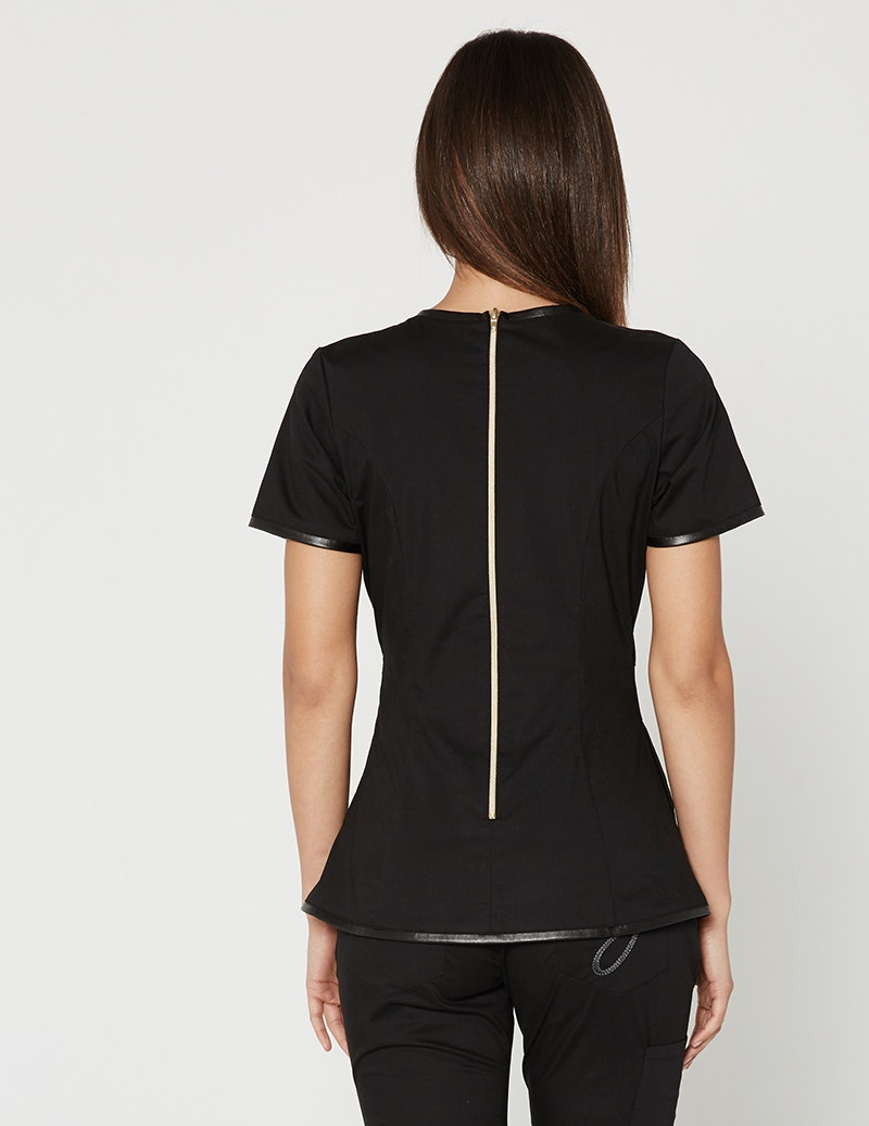 The Faux Leather Top