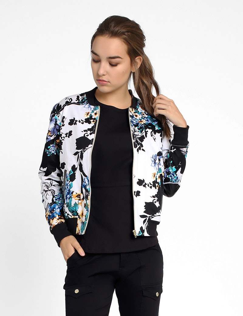 The Bomber Jacket in Garden Party - Women's Jackets by Jaanuu