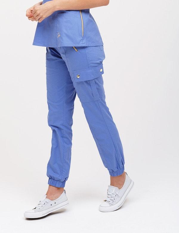 Jogger Pant In Ceil Blue Medical Scrubs By Jaanuu